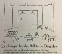 Diaghilev Natalia Gontcharova 1930 Ballets Russes Gontcharoff Danse