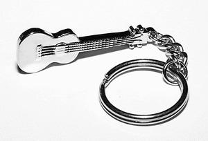 Ukulele Keyring - Music Themed Gift - Guitar or Ukulele Student or Teacher Gift