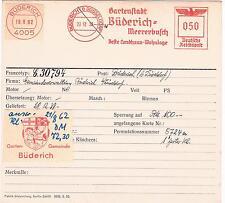 Gartenstadt Büderich Meererbusch 1939 Düsseldorf Mohr Pferd Unikat Archivkarte