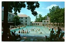 1950s/60s Kenwood Golf and Country Club Pool Scene, Bethesda, MD Postcard