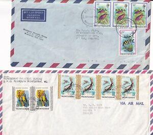 RRR5112  Montserrat 12 different OHMS overprinted stamps on cover UK 1976 - 1992