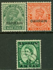 EDW1949SELL : BAHRAIN Scott #3, 6 Mint Original Gum Hinged. #100 Used. Cat $35.