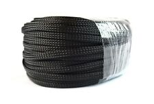"3/8"" 100FT BRAIDED EXPANDABLE SLEEVING FLEX HARNESS LOOM  WIRE COVER BLACK"