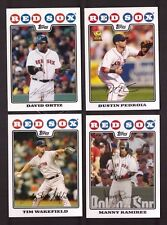 2008 Topps BOSTON RED SOX Team Set Series 1 & 2 w/ Updates 47 Cards