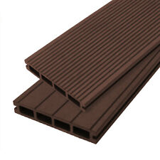 Composite Decking Boards Wood Plastic Fixings Kit Pack / Brown Boarding