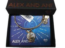 Alex and Ani Snow Globe Bangle Bracelet Rafaelian Gold New with Tag Box Card