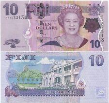 Fiji 10 Dollars 2011 UNC, P-111b, QEII