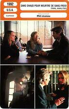 Fiche Cinéma. Movie Card. Sang chaud pour meurtre de sang-froid (USA) 1992