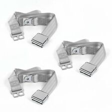 Early Cars 1941 - 1948 Airplane 2pt Gray/Grey Lap Bench Seatbelt Kit - 3