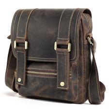 Vintage Men Leather Shoulder Bag Work Business Crossbody Messenger Bag Satchel