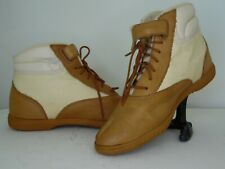 Aigner Shoes Hiking Boots.(inv.#35) cream color ankle high light wear at axle
