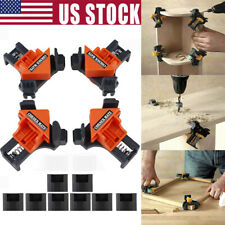 Kit 90 Degree Right Angle Clip Clamps Corner Holders Woodworking Hand Tools USA
