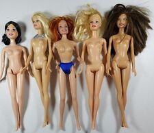 Barbie Princess Nude Doll Lot Play or OOAK Project Blonde Brunette Jewelry