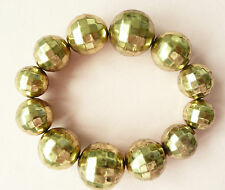 ACCESSORIZE GOLD BRACELET – VERY LARGE FACETED BEADS - BRAND NEW
