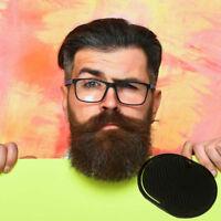Pocket Travel Hair Comb Black Brush Men Beard Brush Mustache Palm Scalp Massage-