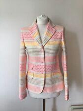 Vilagallo Jacket White Pink Grey Yellow Size 38, 8 Uk