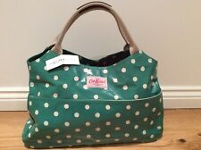 Cath Kidston Large Open Tote Bag - Oilcloth Emerald Spot BNWT with Gift Wrap