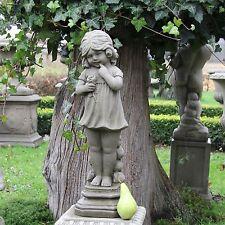 Gartenfigur Steinfigur Dekofigur 56cm 12kg Statue Mädchen Skulptur Steinguss