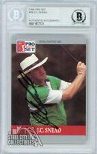 J.C. Snead 1990 Pro Set PGA Tour #99 Autograph Beckett Authentic