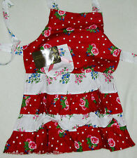 NWT - THE ENTERTAINERS COLLECTION by CAPRICE Vintage Child's Apron - 2 to 4 year