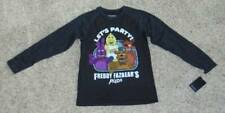 NWT-Boys Five Nights At Freddys Black Party Pizza Long Sleeve Tee Shirt-size L