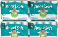 4 Pack Angel Soft 2 Ply Toilet Paper 144 Double Bath Tissue 4 Pack x 36 rolls