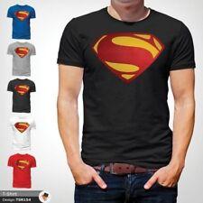 hommes Superman T shirt coupe classique Dc Comics XS, S, M, L, XL, XXL NEUF Noir