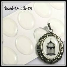 10pcs 18x13mm Oval Clear Epoxy Sticker DIY Cameo Scrapbooking Pendant cabochon