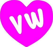 VW Heart Vinyl Decal Sticker Euro VAG GTI GLI R32 Golf Jetta Passat MK2 MK3 MK4