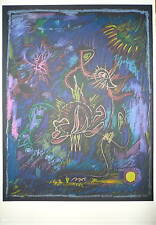 André MASSON Lithographie sur velin art abstrait lyrique abstraction surréalisme