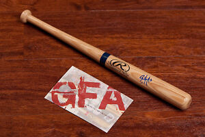 **GFA Colorado Rockies *ERIC YOUNG JR* Signed Rawlings Mini Bat E3 COA PROOF!**