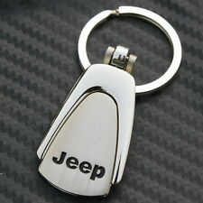Metal Key chain Ring Fob Jeep Grand Cherokee Wrangler Compass Car Chrome CJ CJ5