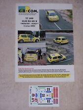 "DECALS C.B.COM. 1/43ème CLIO RS GR N ""MERCIER-VERET"" Corse 2001"