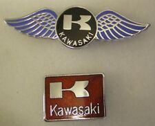 MotorCYCLE MotorBIKE Enamel Lapel Pin Badges x 2 BIKERS includes WINGS shape