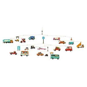 Djeco Traffic Cars Truck Automobile Modern Hanging Baby Nursery Mobile Decor