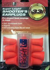Howard Leight Super Light Pre-Shaped Foam Shooter's Earplugs 5-Pair, R-84133 New