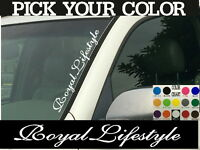 "Royal Lifestyle Vertical Car Truck SUV Windshield Vinyl Decal sticker 4"" x 22"""