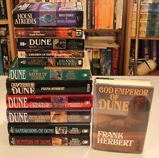 Dune - Frank Herbert  12 Dune Series Books Inc. H/C God Emperor of Dune 1st ED.