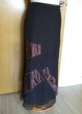 Ladies PER UNA Long Maxi Skirt Size 14 Net Black Brown