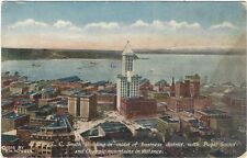 ca. 1910 postcard - 42 Story L.C. Smith Bldg. Puget Sound, Olympic Mts, Seattle