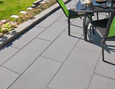 Kann Terrassenplatten Vios- Platten kugelgestrahlt in grau,anthrazit und beige