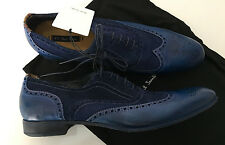 Paul Smith DIP DYE Blue Miller Brogues Leather Wing-Tip Size UK6.5 / UK7 EU40/41
