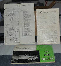 VTG 1955 Mercury Owners Ford Motor Co Form No LM-3691-55 N