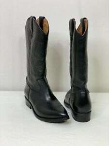 NEW Frye Women's Carson Pull On Black Leather Cowboy Western Boots Size 8.5 B