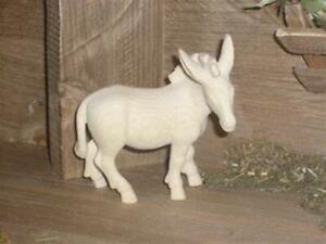 Pema Krippenfigur Esel stehend Holz Neu Naturbelassen Nr.040 15