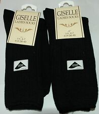 2 x pairs Giselle Ladies Socks UK 4-7 E 36-40 A002.10A