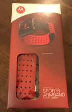 Motorola Sports Armband for MOTOACTV -Tracker & Music Player, Black & Red