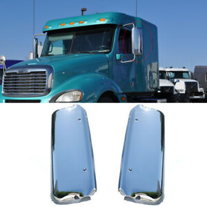 Fit 2005-2015 Freightliner Columbia Century Chrome Mirror Cover W/CBR Hole
