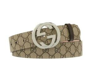 NEW GUCCI GG GUCCISSIMA SUPREME LEATHER LOGO BUCKLE BELT  80/32