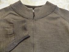 NORDSTROM BROWN SWEATER WITH NECK ZIPPER MADE IN ITALY SIZE L